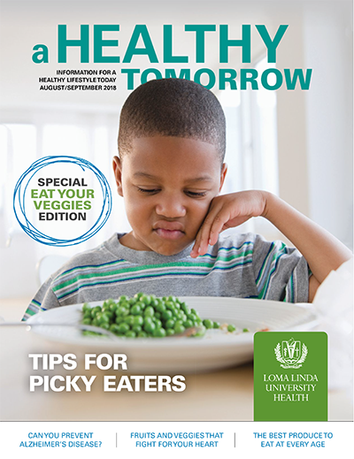 A Healthy Tomorrow magazine cover