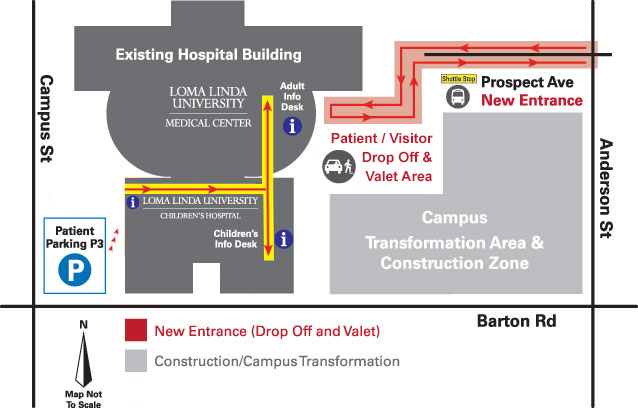 Loma Linda University Hospital Parking Map