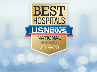 U.S. News & World Report Best National Hospitals Award Gynecology 2019-2020
