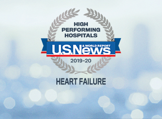 U.S. News & World Report High Performing Hospital Award Heart Failure 2019-2020