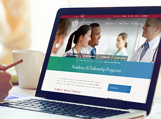 Laptop Displaying Loma Linda University Health Residency & Fellowship Programs Website