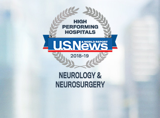 U.S. News & World Report High Performing Hospitals Award 2018-2019 Neurology & Neurosurgery