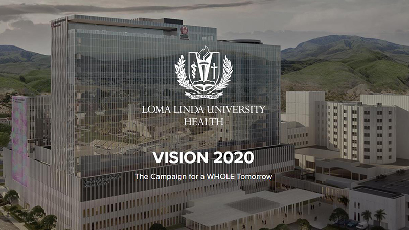 Image: vision 2020 logo and facility rendering