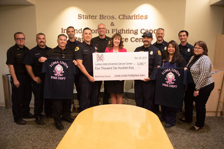 Loma Linda Firefighter's Association raises $4,260 for breast cancer patients