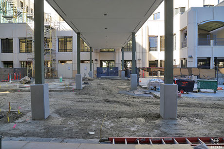 Grand Hallway designed to provide welcome pathway for hospital visitors