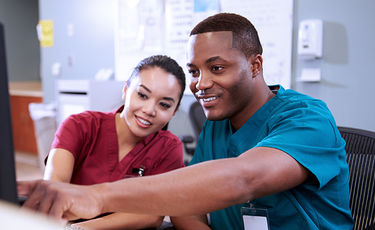 male and female nurse station