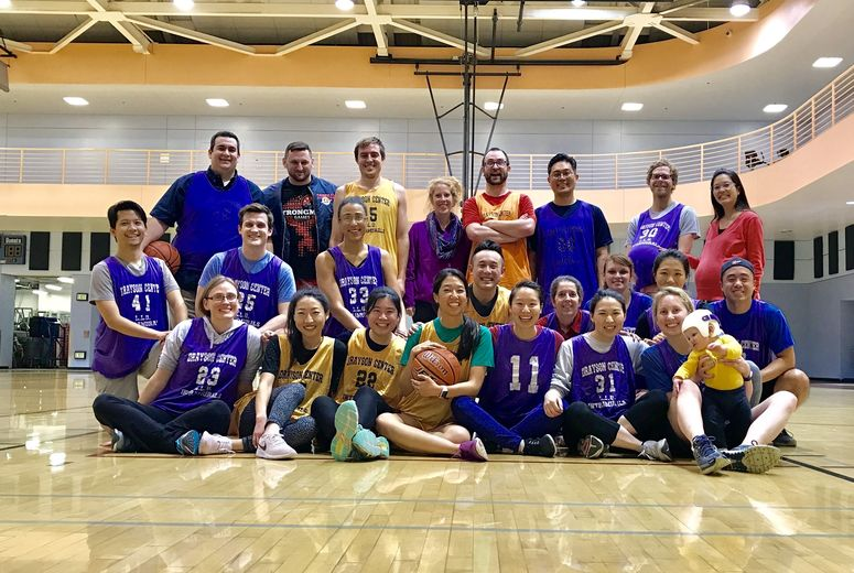 Family Medicine Residency and Faculty on a Basketball Court