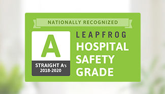 Leapfrog Hospital Safety Grade 'A' - Fall 2020