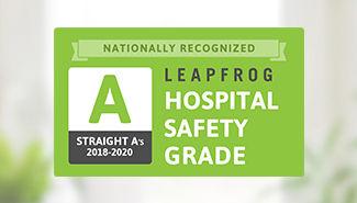 Leapfrog Hospital Safety Grade 'A' - Fall 2020