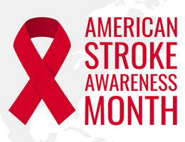 Stroke Awareness month and ribbon