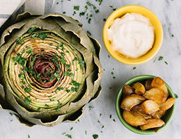 Artichoke with Aioli Sauce