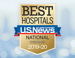 U.S. News & World Report Nationally Ranked Gynecology Service Award 2019-20