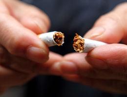 cigarette being broken in half
